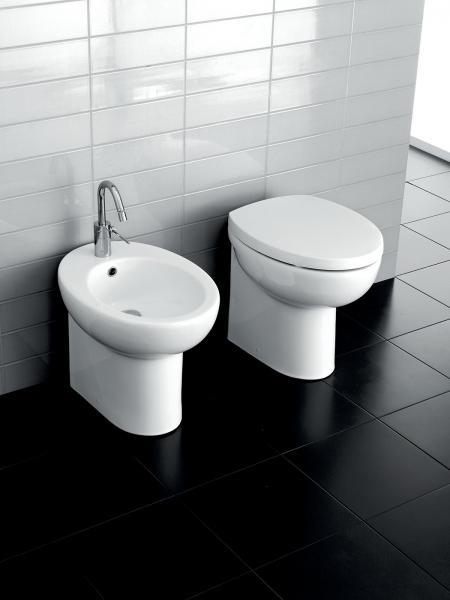 Vaso e bidet a terra per il bagno cm 53 x 37 Erika Pro Hatria