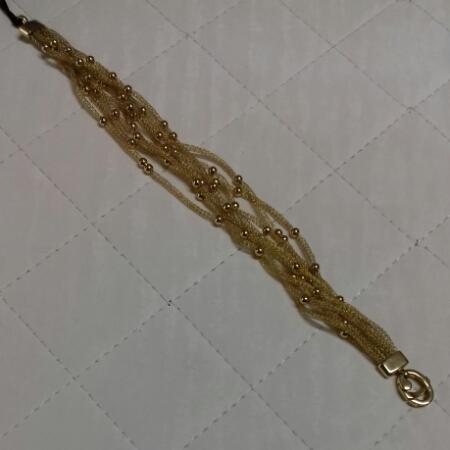 Bracciale donna multifili in oro giallo filato, vendita on line   GIOIELLERIA BRUNI Imperia