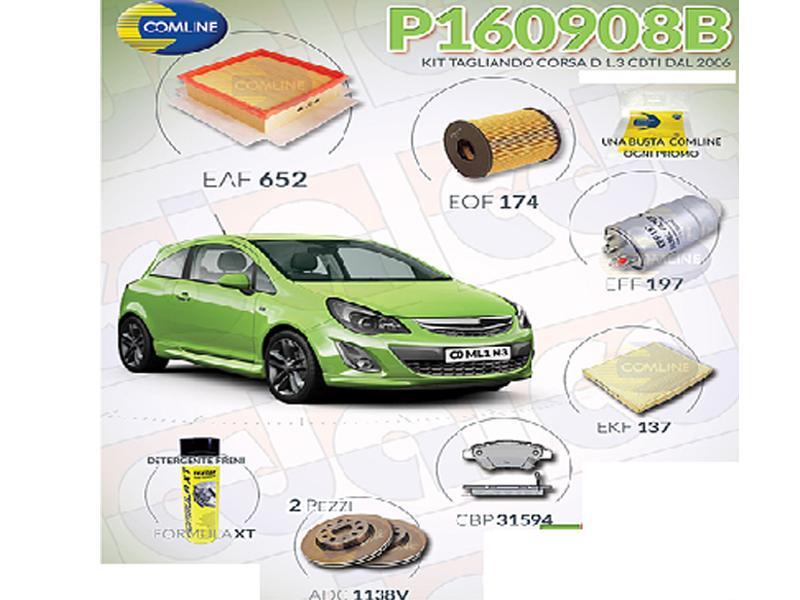 Super Kit Filtri e Freni Opel Corsa D