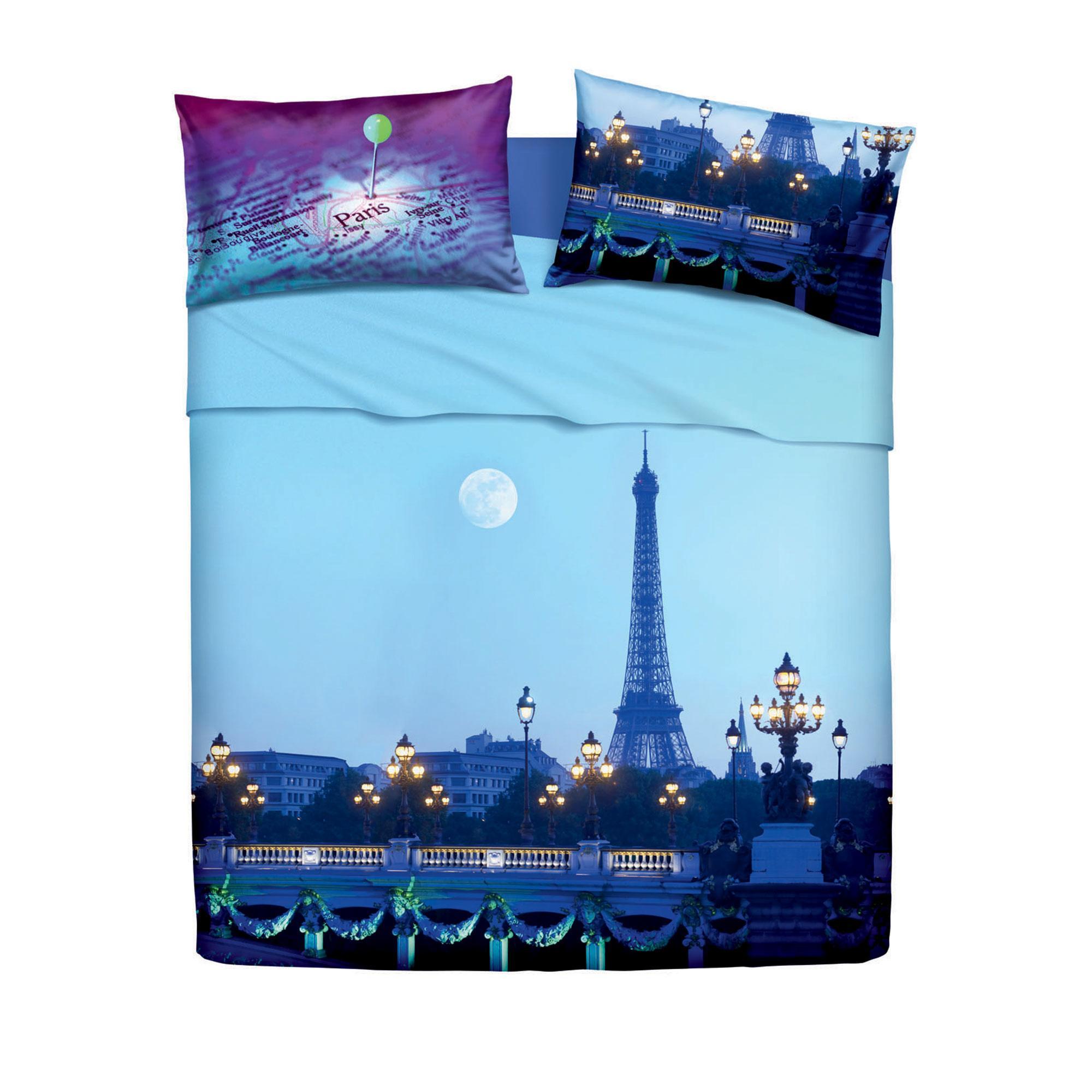 """Set lenzuola matrimoniale  Bassetti """"Love is Paris"""" LA TOUR"""