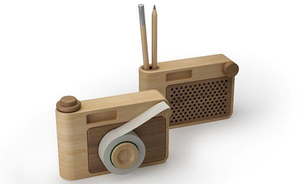 Portapenne in legno