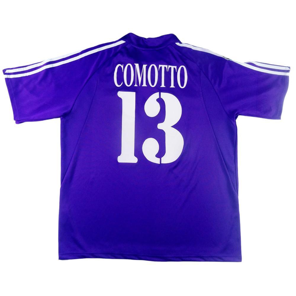 2003-04 Fiorentina Maglia Home #13 Comotto MATCH ISSUE