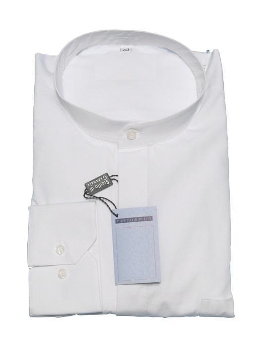 Camicia talare fil a fil - manica lunga