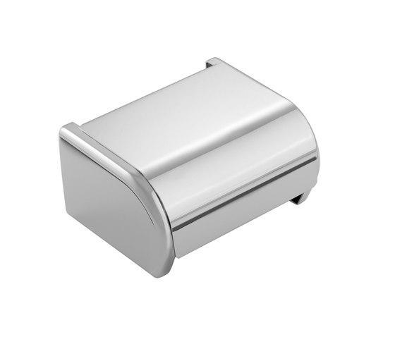 Porta rotolo con coperchio per il bagno serie Architect Cosmic