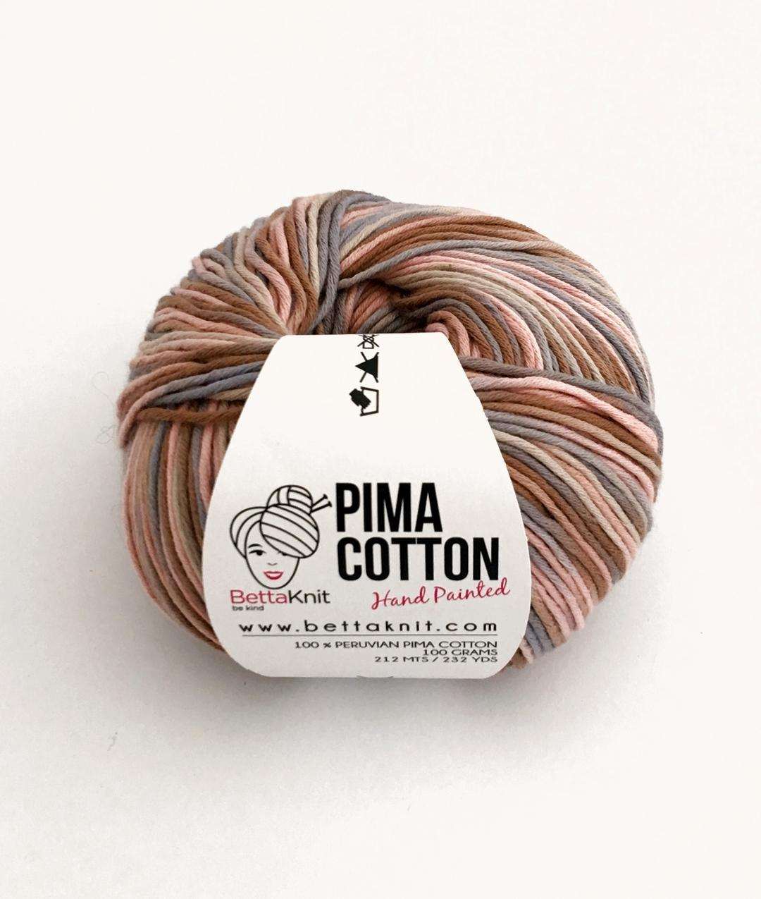 Pima Cotton Hand Painted Yarns Cotton Bettaknit