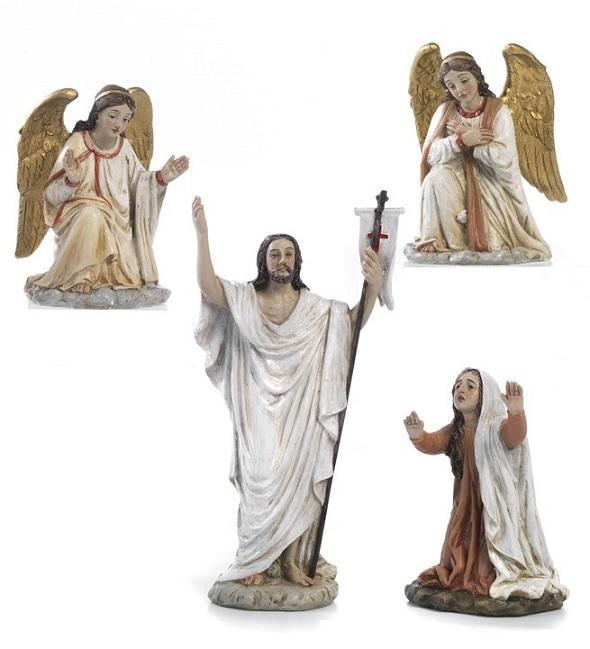 Gesù Risorto e angeli cm. 14