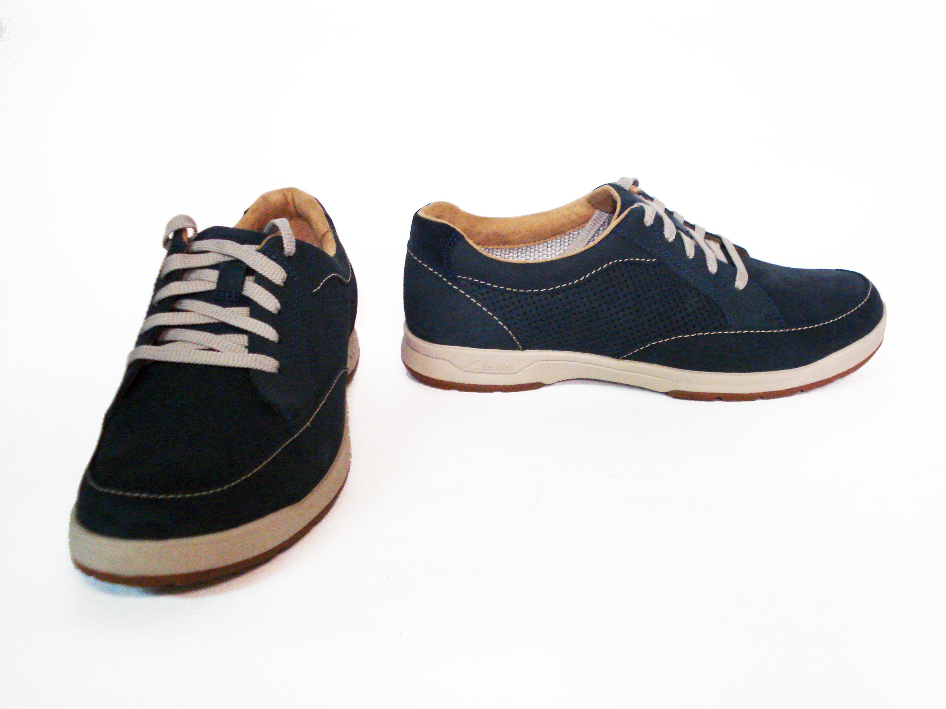 Sneaker navy nabuk Clarks