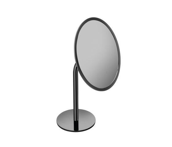 Specchio ingranditore da appoggio per il bagno serie Black & White Cosmic