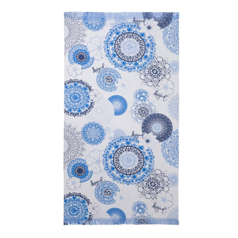 Desigual telo da mare pareo puro cotone 86x160 THINK IN BLUE