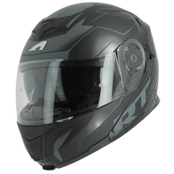 CASCO MOTO MODULARE ASTONE RT1200 WORKS MATT BLACK GREY