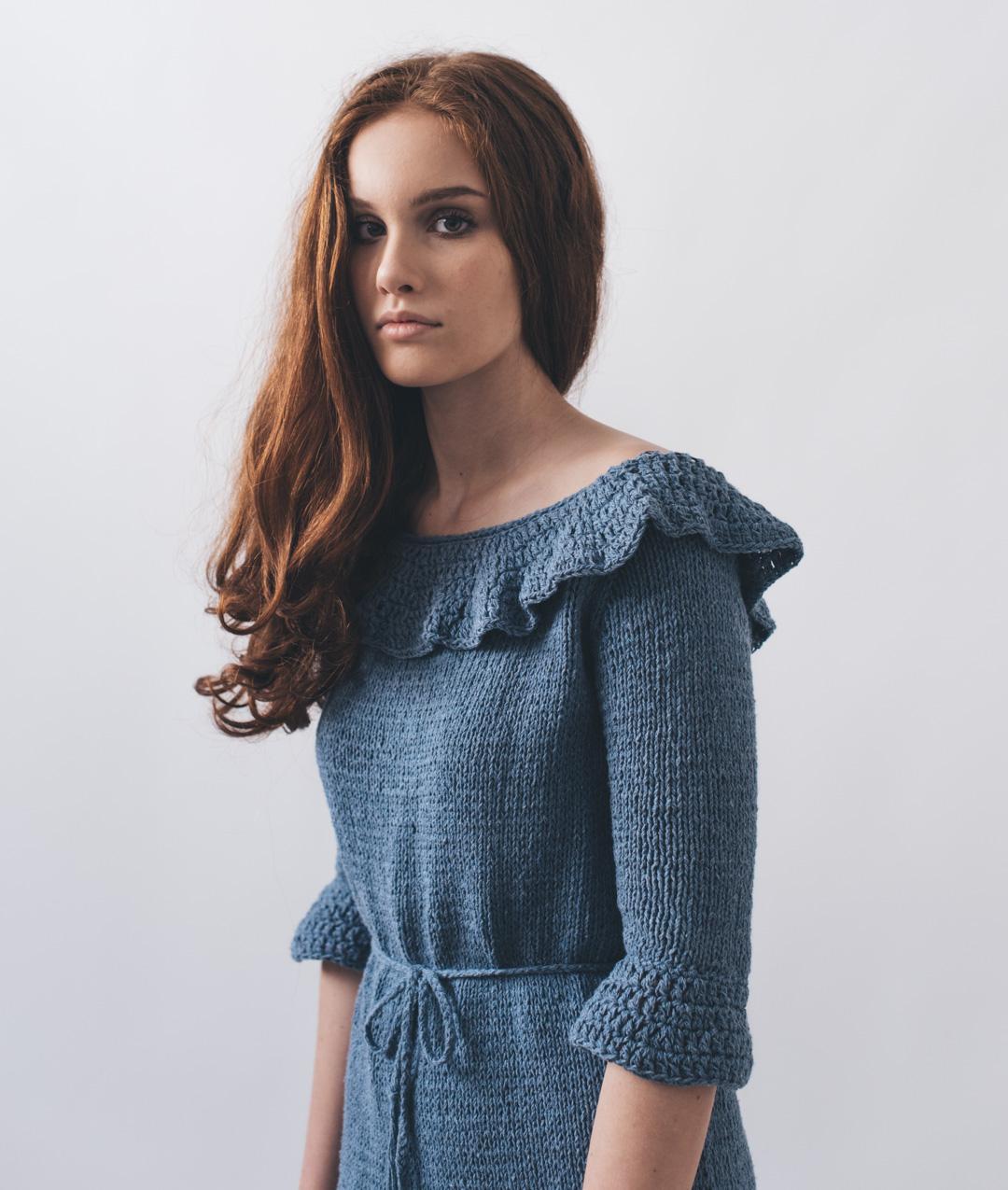 Dress - Cotton - Olivia Dress - Blue Shades - 1