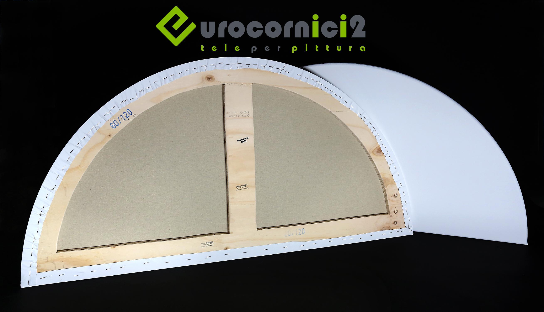 Centine telate 60x120 cm per dipingere in JUTA - profilo 2 cm - Curvo