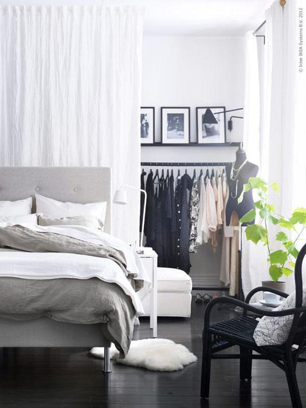 Cabina Armadio Dietro Letto : Parete dietro il letto colore o decorazione idee