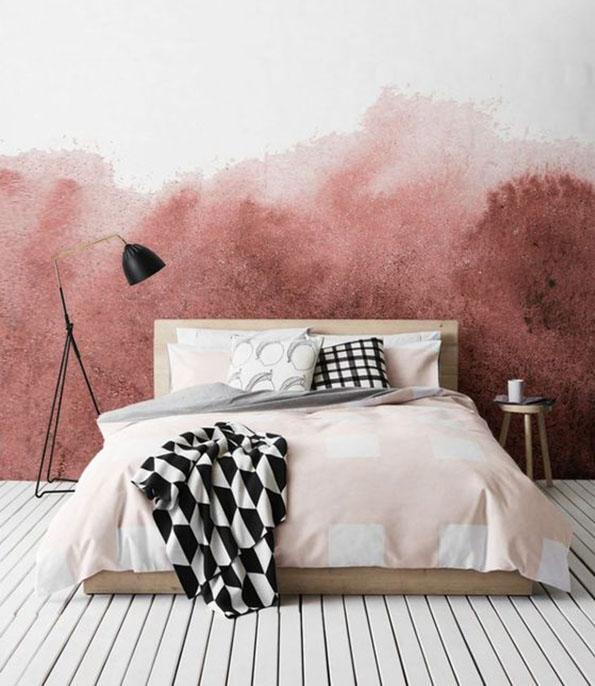 Parete Dietro il Letto: Colore Rosa