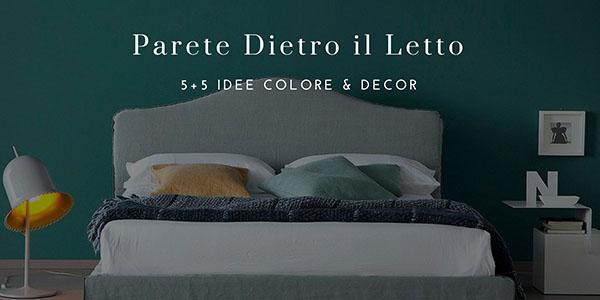 Parete dietro il letto colore o decorazione 5 5 idee for Colore armadio camera da letto