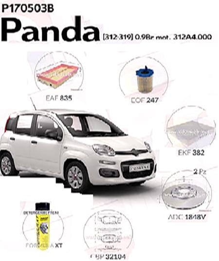 Super Kit filtri Fiat Panda 312