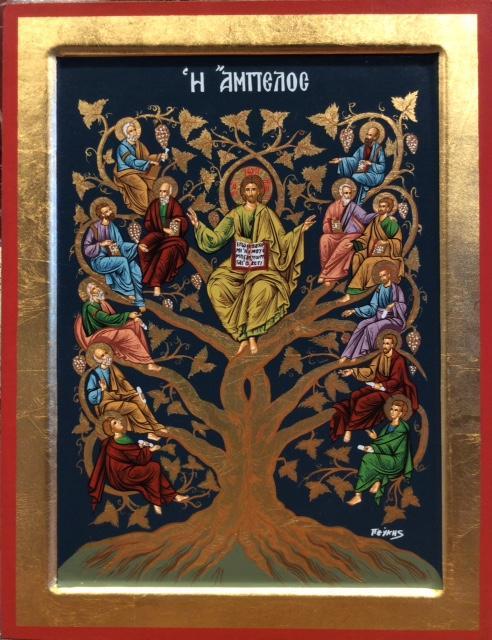 Icona serigrafata Albero della Vita 23 x 30 cm
