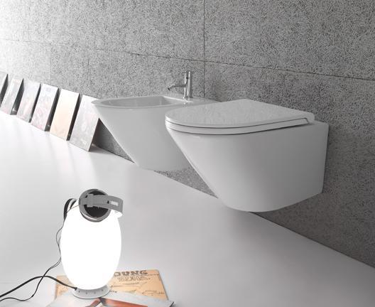 Vaso e bidet sospeso per il bagno cm 52 x 36 Forty3 Globo