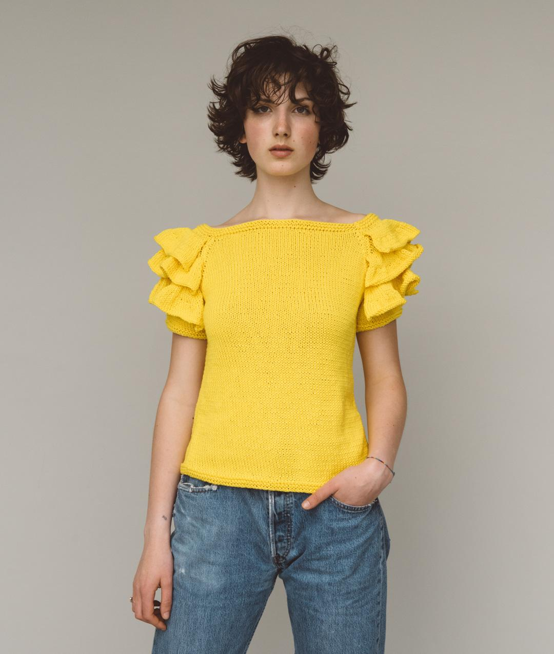 Summer Collection - Sweaters and Tops - Daffodil Tee - 1
