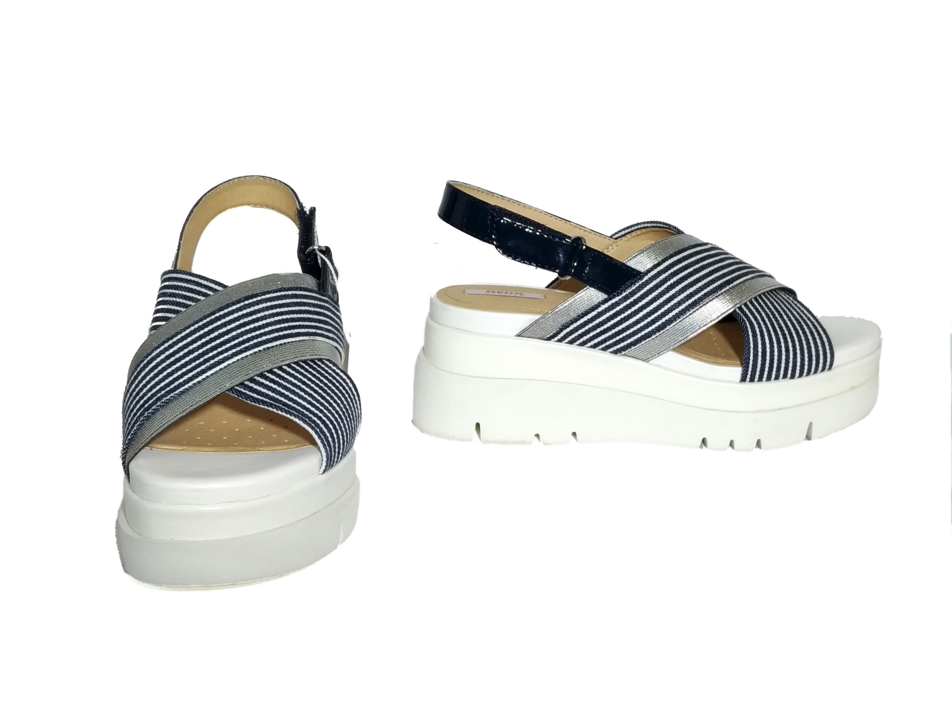 Sandalo navy/bianco Geox
