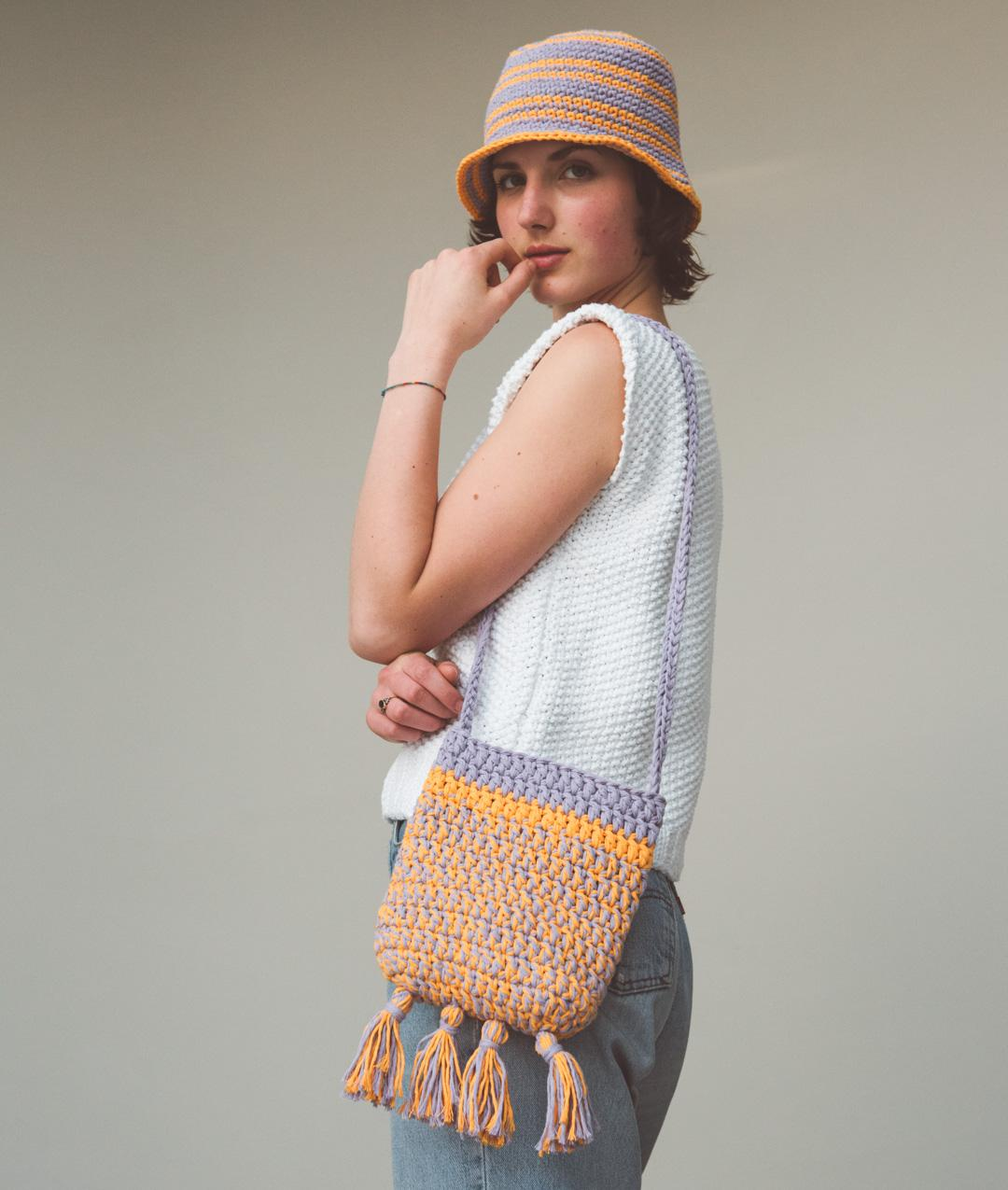 HANDBAGS & CLUTHES - Summer Collection - Sun Set Hat & Bag - 1