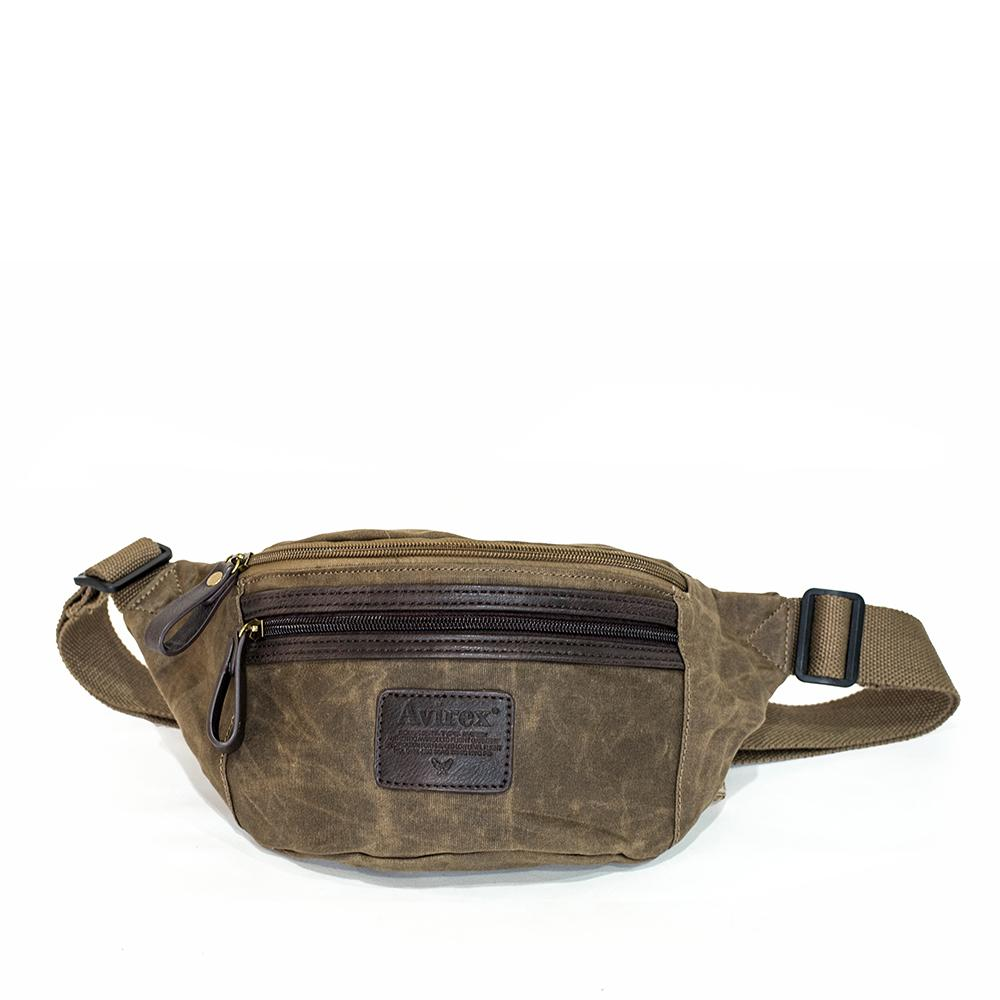 Avirex - RJ90 - Marsupio unisex in canvas 1 scomparto marrone cod. 07