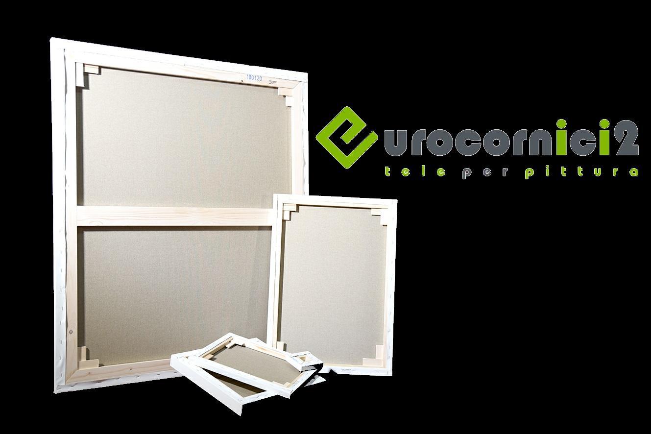 Tele 10x10 in Misto Cotone per Dipingere - profilo 2 cm - Telaio Telato Misto Cotone