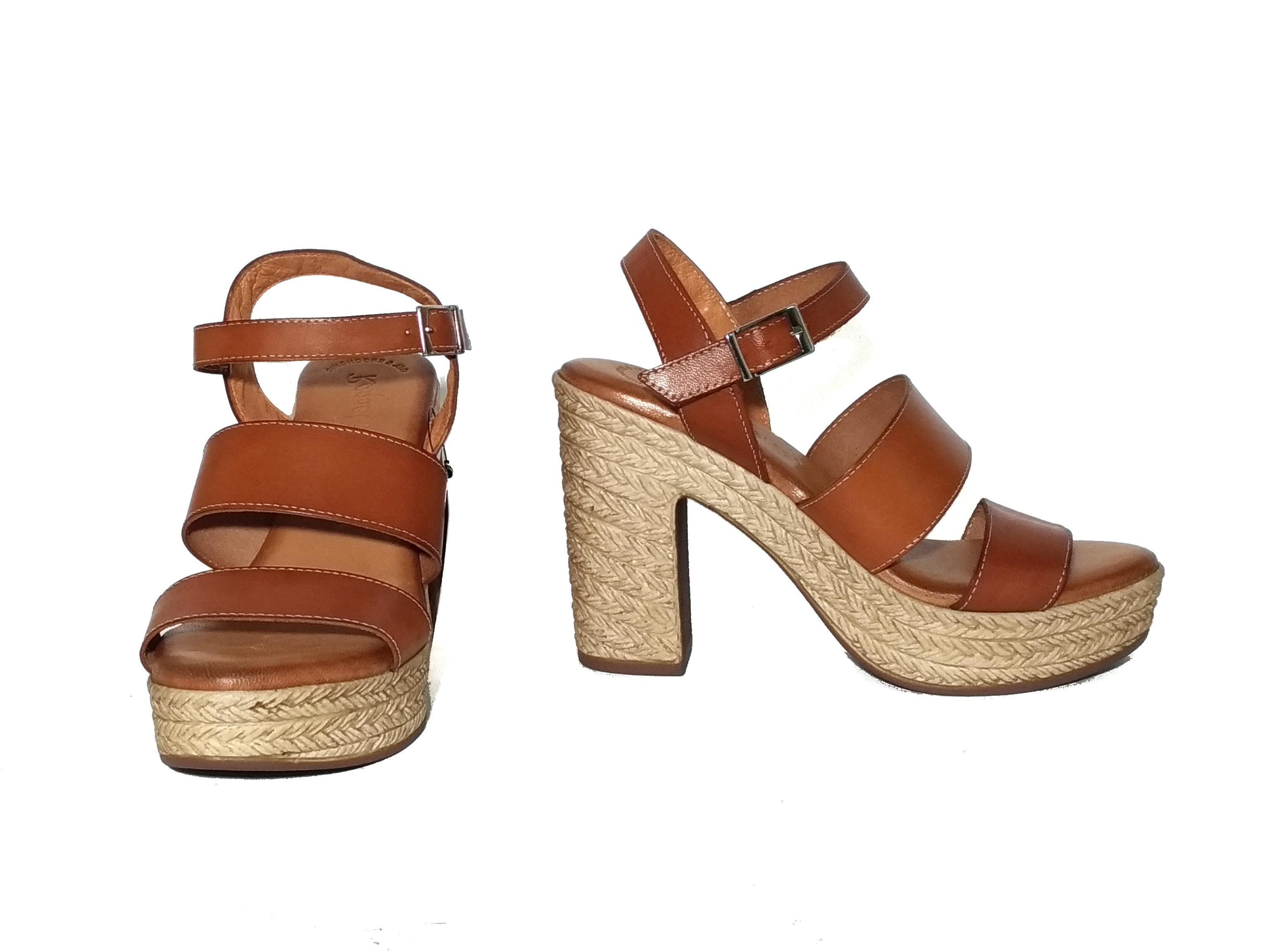 Sandalo cuoio Raquel Perez