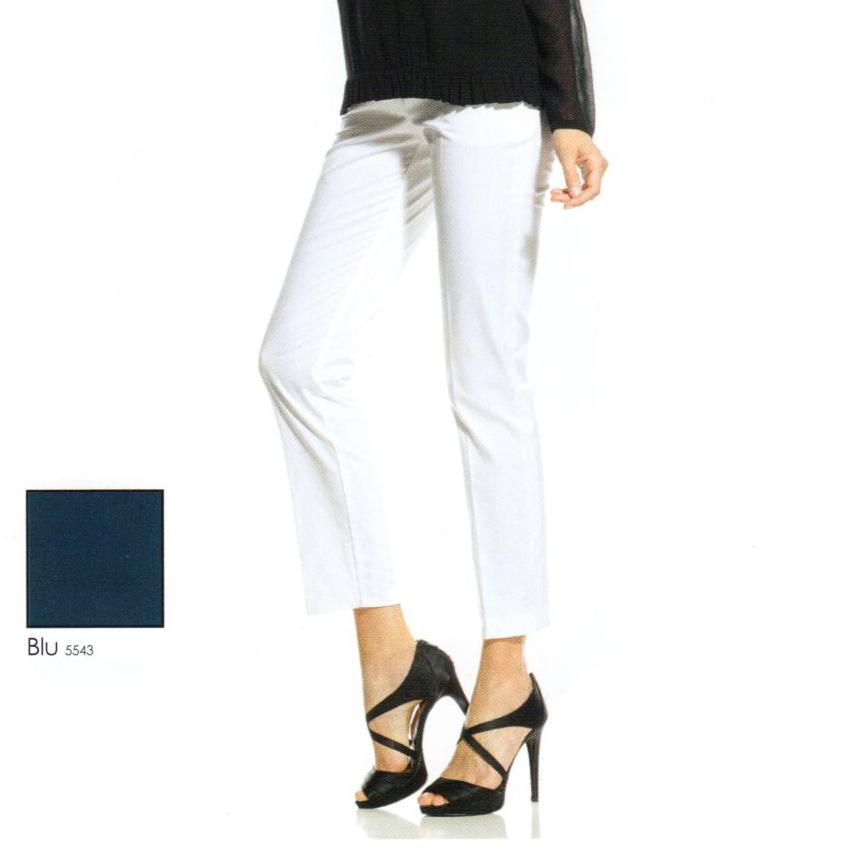 Pantalone Capri blu Evoe