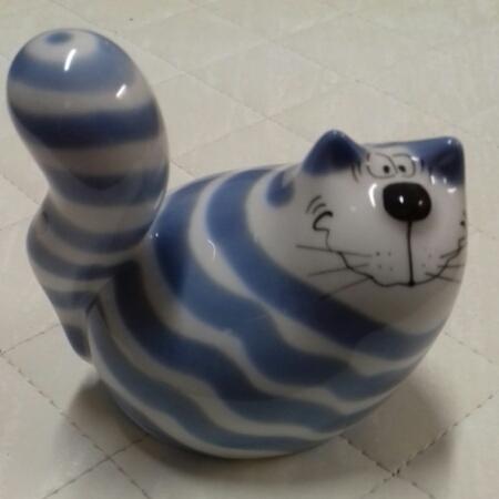 Alldi The Cat, sale e pepe in porcellana a forma di gatto bianco e blu, vendita on line | GIOIELLERIA BRUNI Imperia