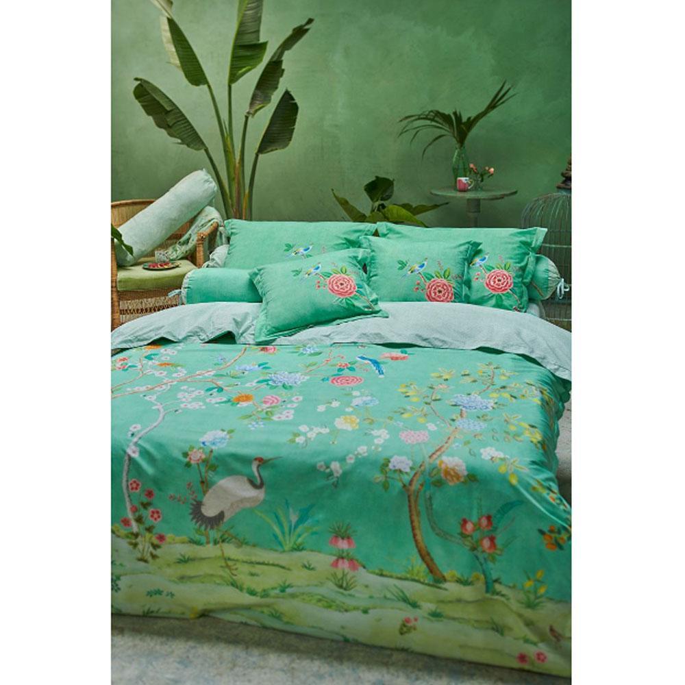 Double Bed Sheet Set Pip Studio Good Morning Green Effect Bedspread