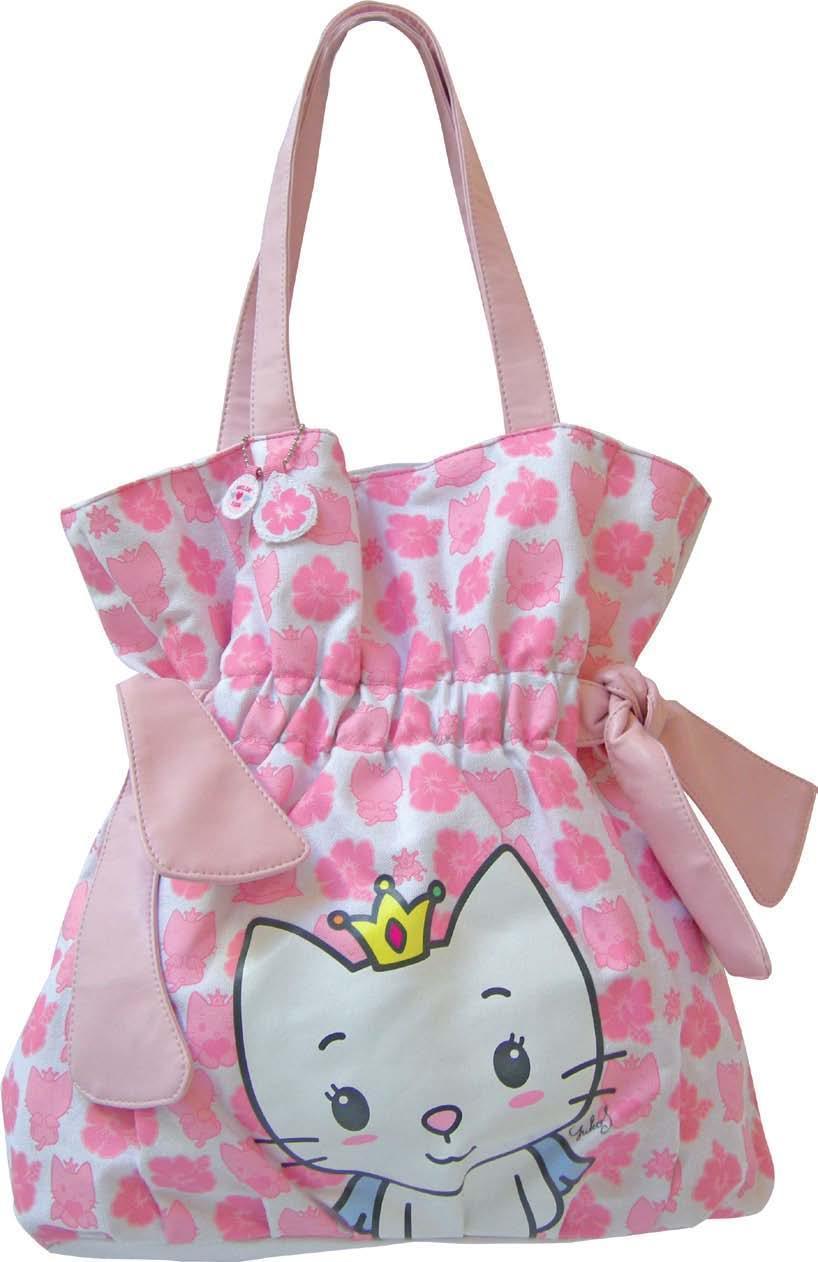 Angel Cat Sugar borsa shopper fiocco tessuto