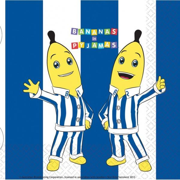 Banane in Pigiama 16 tovaglioli 33 cm party