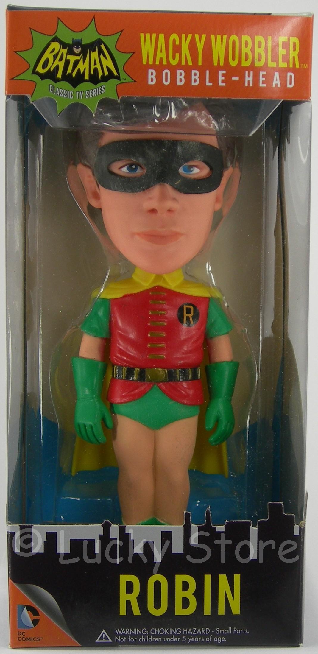 Batman Serie TV 1966 RARO Cappuccio Rosa wacky wobbler bobble head bobble head figure 18 cm Funko RARE Contaminated Cowl