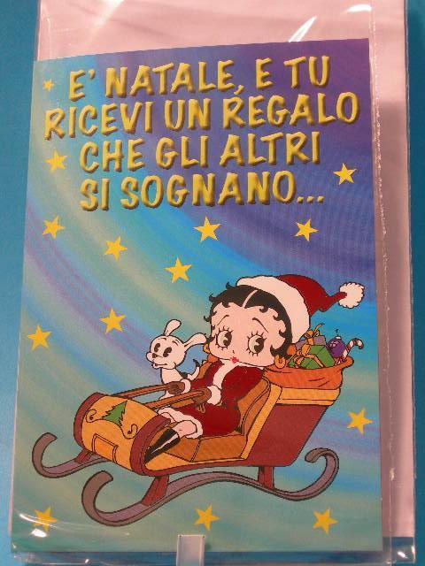 Betty Boop biglietto auguri Natale metallizzato