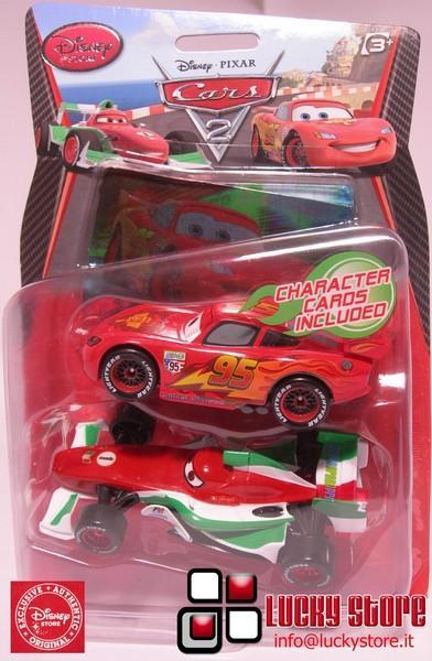 Cars 2 Saetta e Francesco action figure Disney Store