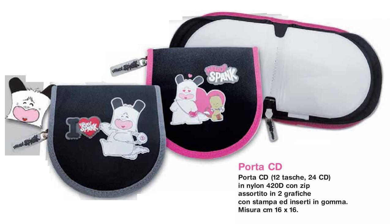 Hello Spank Porta cd/dvd bordo rosa