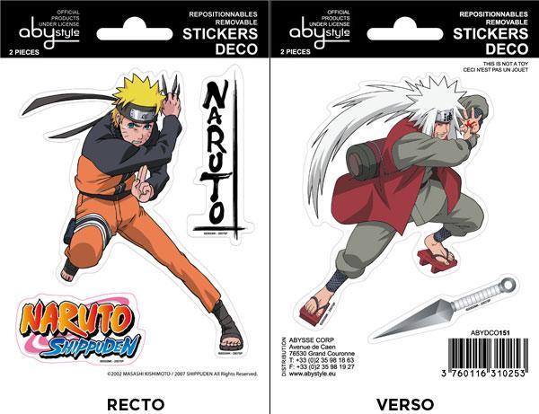 Naruto Shippuden Jiraiya mini stickers 16x11 cm