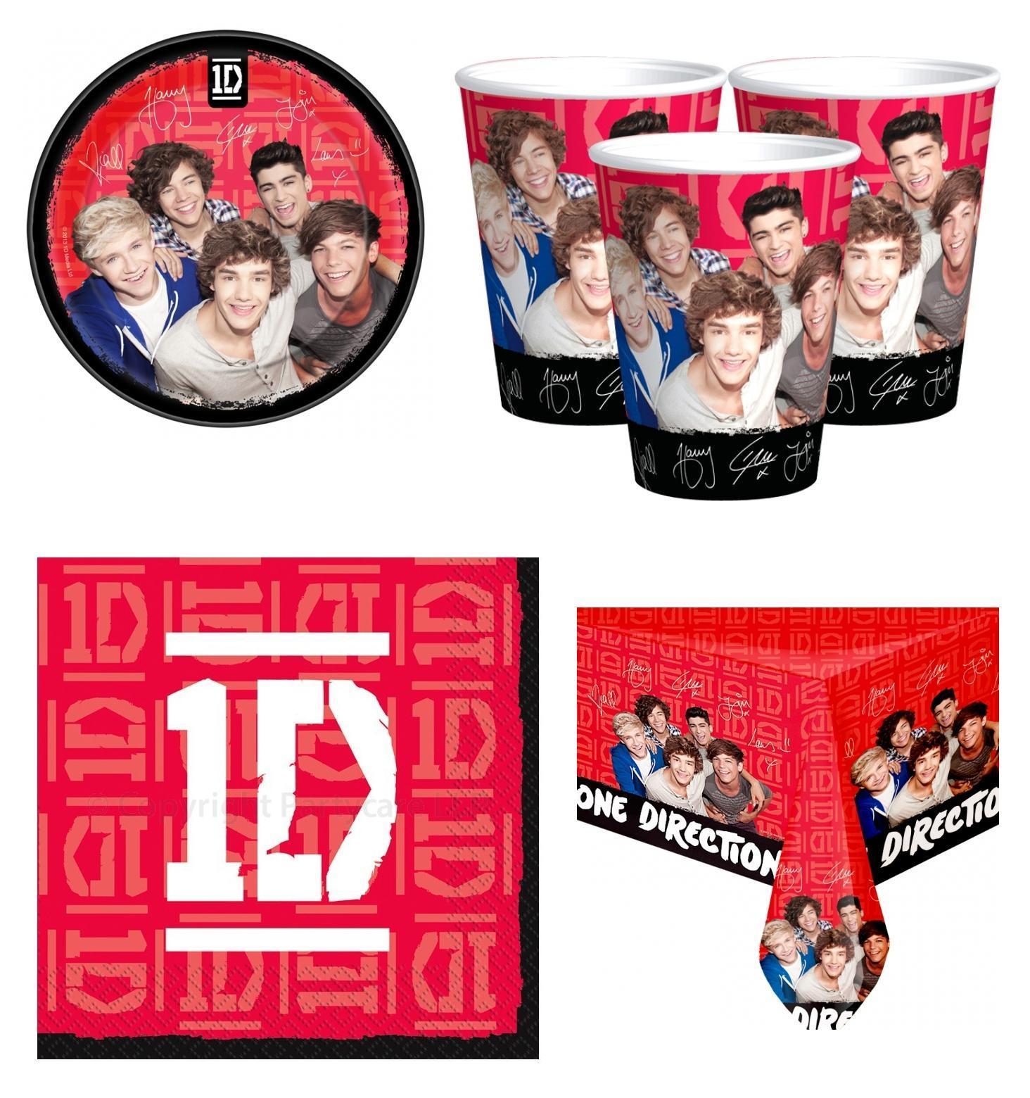 One Direction set party 8 Bicchieri 8 Piatti 1 Tovaglia 16 Tovaglioli Festa Compleanno