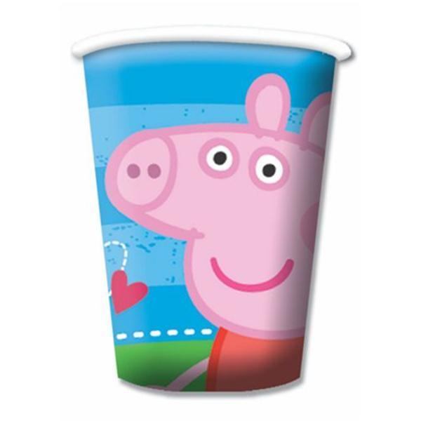 Peppa Pig 8 bicchieri blu festa party