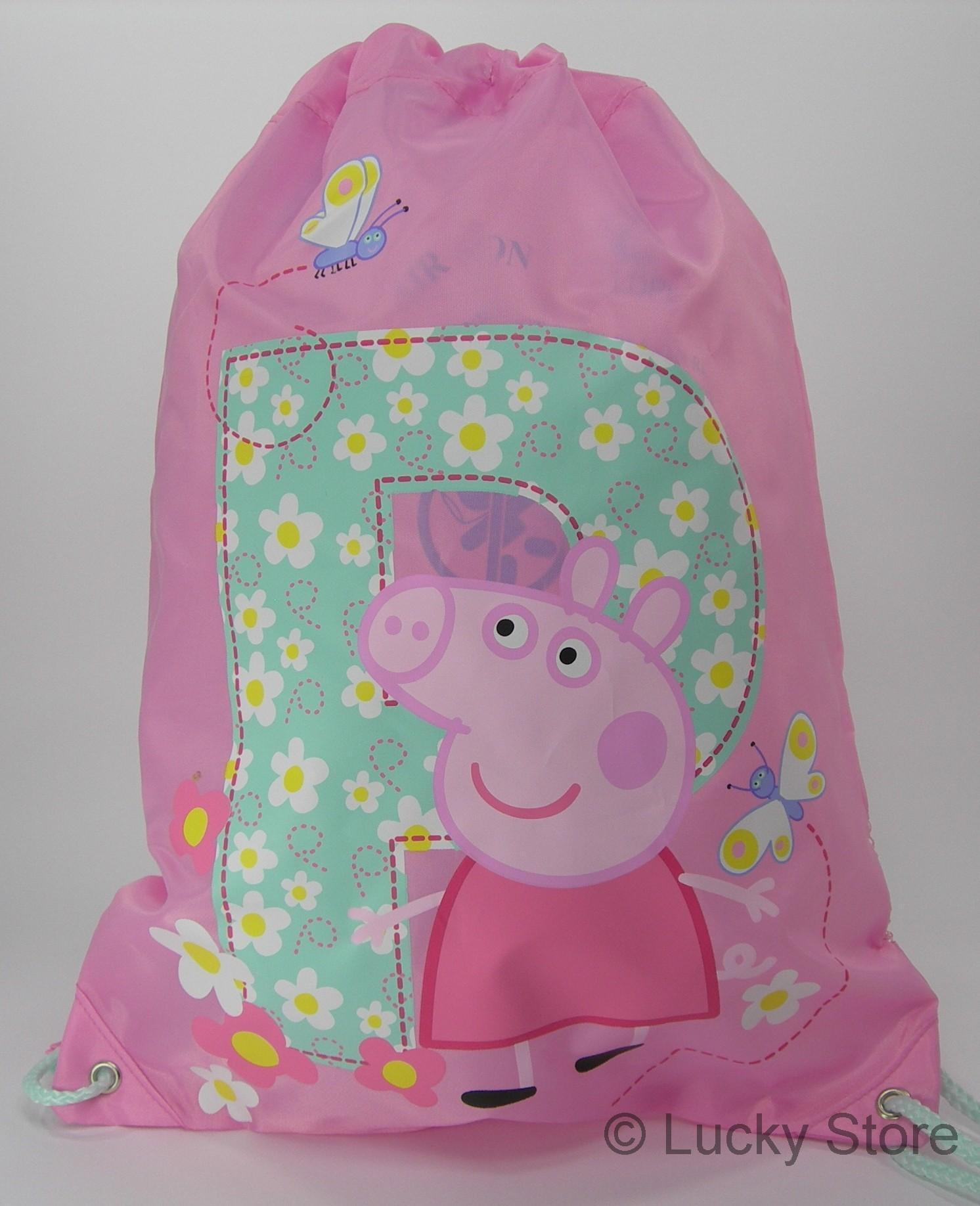 Peppa Pig sacca zaino Rosa originale 30 x 40 cm