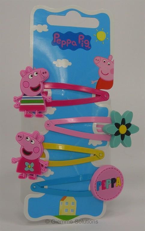 Peppa Pig set 4 fermagli per capelli