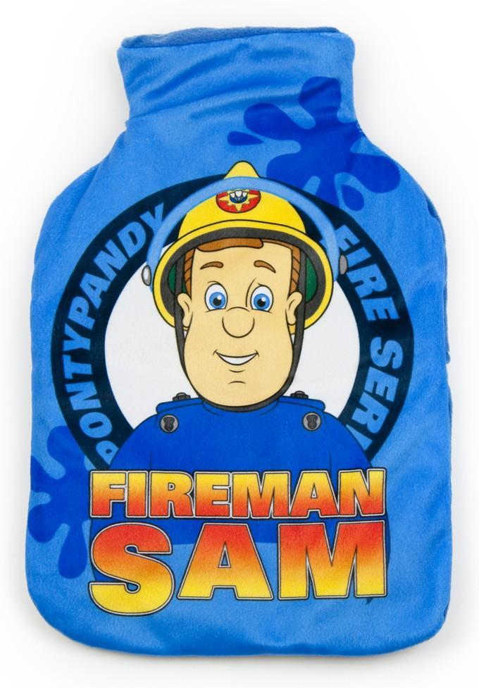 Sam Pompiere Fireman Sam bottiglia acqua calda scaldaletto peluche velcro