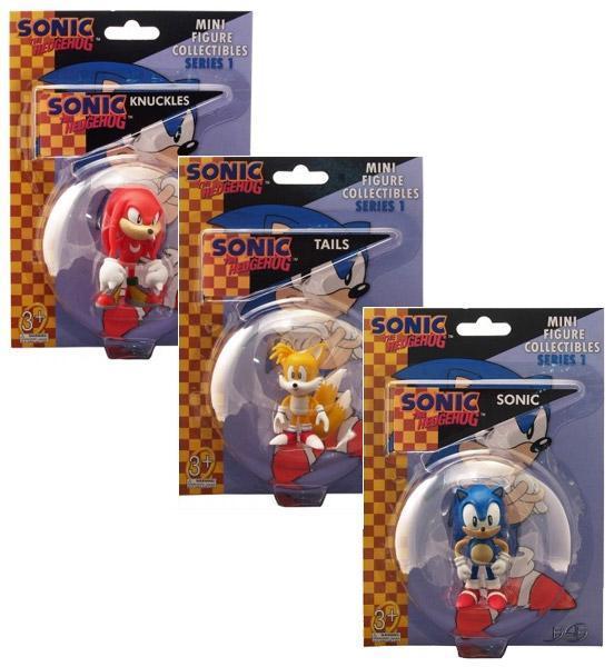 Sega Sonic Hedgehog mini figure 7 cm collezione originale blister