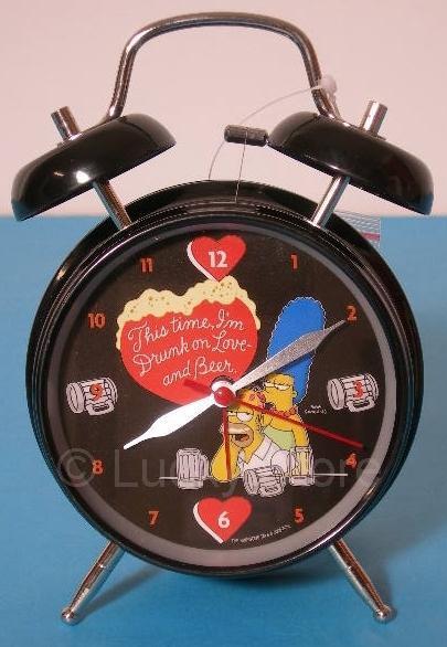 Simpson Homer Marge Innamorati Sveglia metallo con campane