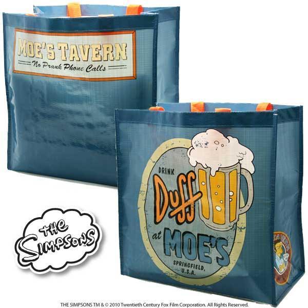 Simpsons Moe's Duff borsa spesa PVC