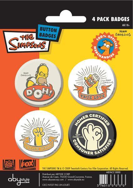 Simpson set 4 spille badge Homer