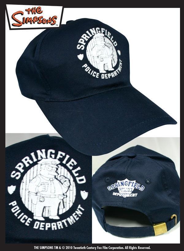 Simpsons Springfield Police Department cappellino baseball adulto ragazzo