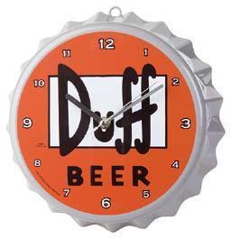Simpson Tappo Birra Duff orologio da parete 22 cm