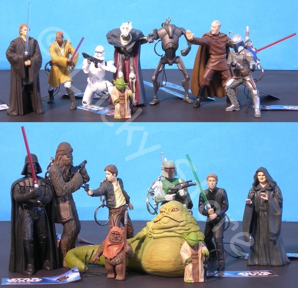 Star Wars mini figure portachiavi 8 cm